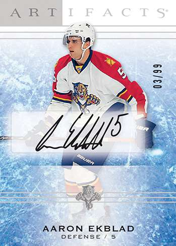 14-15 Artifacts Case Hit Rookie Autograph Aaron Ekblad