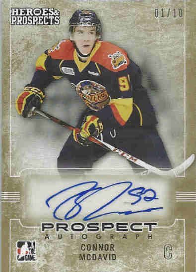 14-15 Leaf ITG Heroes & Prospects Autograph Connor McDavid
