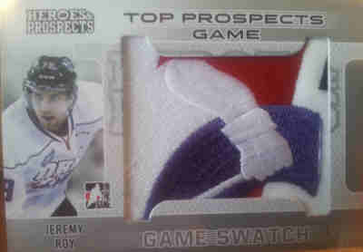 14-15 Leaf ITG Heroes & Prospects Game Swatch Jeremey Roy