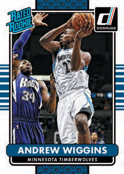 14-15 Panini Donruss Rated Rookie Andrew Wiggins