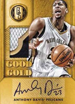14-15 Panini Gold Standard Basketball Good as Gold Anthony Davis