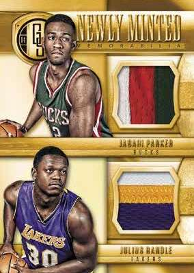 14-15 Panini Gold Standard Basketball Newly Minted Example Dual Parker and Randle