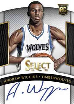 14-15 Panini Select Autograph Andrew Wiggins