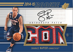 14-15 SPX Basketball Rookie Patch Autograph Shabazz Napier