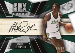 14-15 SPX Basketball Signatures Magic Johnson