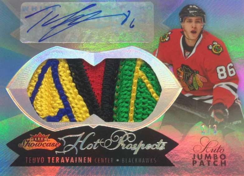 14-15 Fleer Showcase Hot Prospects Patch Teuvo Teravainen