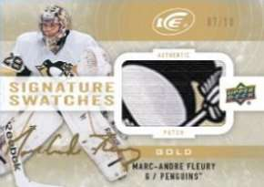 14-15 Upper Deck Ice Hockey Ice Signature Swatches Marc-Andre Fleury
