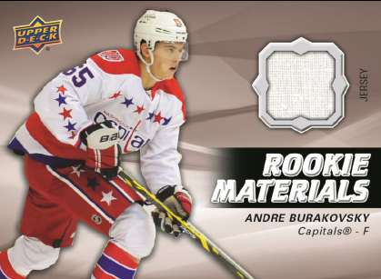 14-15 Upper Deck Series 2 Rookie Materials Andre Burakovsky