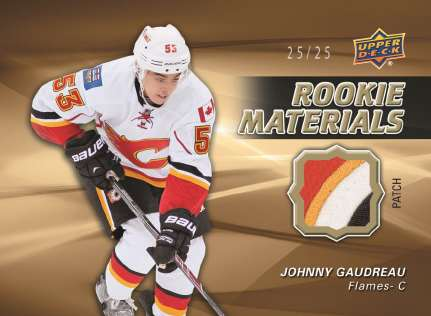 14-15 Upper Deck Series 2 Rookie Materials Patch Johnny Gaudreau