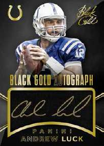 2014 Panini Black Gold Football Black Gold Autograph Andrew Luck