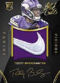 2014 Panini Black Gold Football Rookie Autograph Jersey Teddy Bridgewater