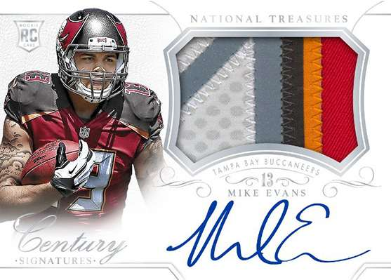 2014 Panini National Treasures Football Rookie Century Materials Signatures Mike Evans