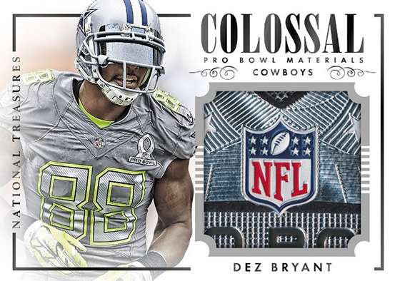 2014 Panini National Treasures Football Colossal Pro Bowl Materials Dez Bryant