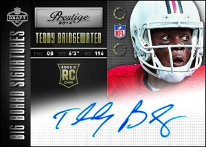 2014 Panini Prestige Football Big Board Signatures Teddy Bridgewater