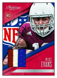 2014 Panini Prestige Football Rookie Jersey Mike Evans