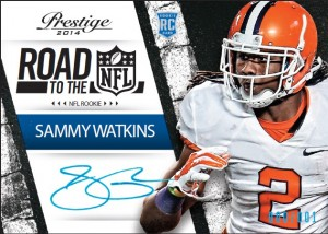 2014 Panini Prestige Football Road to the NFL Signatures Sammy Watkins