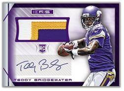 2014 Rookies and Stars Football Teddy Bridgewater Patch Autograph