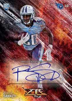 2014 Topps Fire Football Fire Autograph Example Sankey
