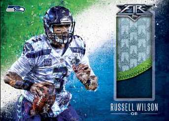 2014 Topps Fire Football Fire Relic Example With Russel Wilson