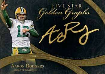 2014 Topps Five Star Football Golden Graphs Aaron Rodgers