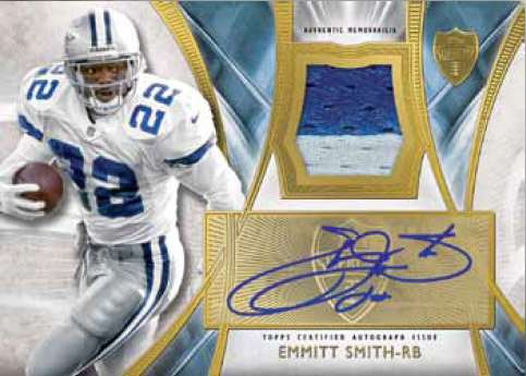 2014 Topps Supreme Football Autographed Patches Blue Emmitt Smith