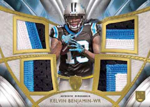 2014 Topps Supreme Football Rookie Quad Patch Kelvin Benjamin