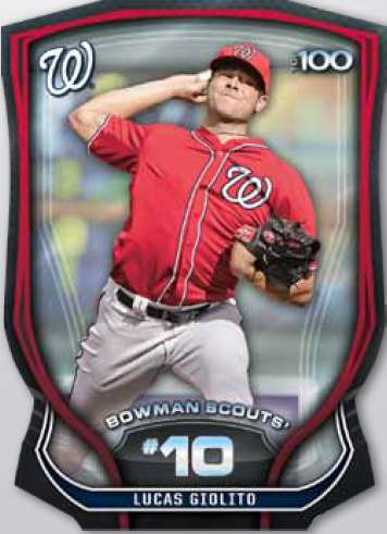 2015 Bowman Baseball Top 100 Scouts Die-Cut Parallel Lucas Giolito