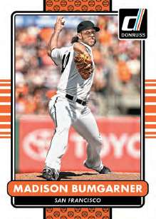 2015 Donruss Baseball Base Card Madison Bumgarner
