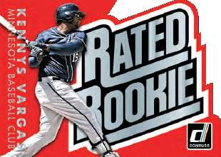 2015 Donruss Baseball Rated Rookie Kennys Vargas