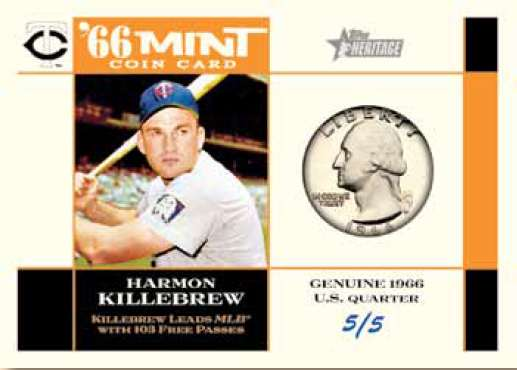 2015 Topps Heritage '66 Mint Coin Card Harmon Killebrew