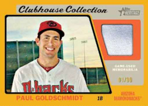 2015 Topps Heritage Clubhouse Collection Jersey Paul Goldschmidt