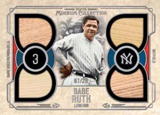 2015 Topps Museum Collection Baseball Quad Relic Legends Babe Ruth