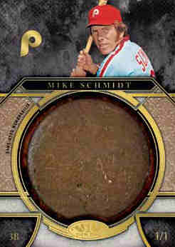 2015 Topps Tier 1 Baseball Bat Knobs 1/1 Mike Schmidt